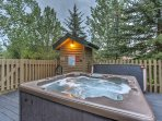 Finish your nights by relaxing in the hot tub.