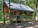 This cabin is tucked away in a private forest, affording a quiet space and comfortable accommodations for 4 guests to...