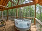 Embark on a romantic getaway at this 1-bedroom, 1-bathroom Leicester vacation rental cabin.