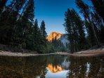Marquis Villas Resort Half Dome Reflection In Yosemite