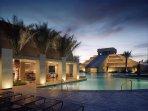 Cancun Resort Pool Night View