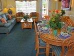 Liki Tiki Village Living Room and Dining Room
