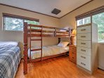 Children in your group will sleep well in the twin-over-twin bunk bed.