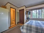 Enjoy great views of the pines through the windows.