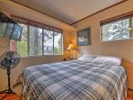 Two guests are sure to fall fast asleep in the comfy queen bed.