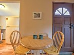 Share a meal with your loved one at this quaint 2-person dining table.