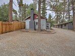 You'll love the peace and quiet afforded by this forested cabin!