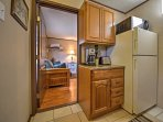 The well-equipped kitchenette has everything you'll need to prepare a home-cooked meal during your stay.