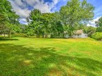 Throw a football or play a game of baseball on the lush, green lawn!