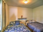 Located on the first floor, this bedroom is perfect for grandparents or young children.