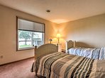 The second bedroom offers 2 twin beds.