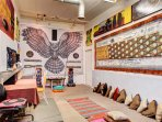 The Psychedelic Owl room is a comforting and calming space for ultimate relaxation.