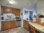 This condo features a fully equipped kitchen with ample space so you can cook with ease.