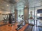 Fitness fans can utilize the community fitness center within Sugar Top Condos.
