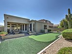 Lounge in a fantastic backyard patio throughout your stay at this contemporary vacation rental house in Phoenix!