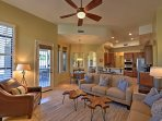 Well-appointed decor and comfortable furnishings create a home-away-from-home experience.