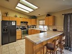 Enjoy cooking in the fully equipped kitchen.