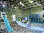 Enclosed shared play barn- ideal area come rain or shine!