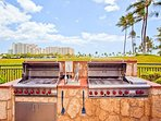 BBQ Grills Next to Lagoon Pool Area