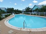 Large Community Pool with Heated Spa