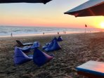 The beach is only 1.6 km from Villa Bahagia