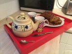 Tea for 2 (or 4!)..a lovely welcome pack awaits you on arrival.