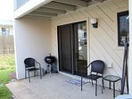 Private Back Patio with Charcoal Grill