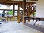 Large downstairs patio for entertaining!
