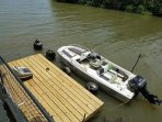 Floating deck to relax on and enjoy breathtaking views of the Caribbean Sea
