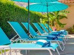 Plenty of Poolside Chaise Lounges