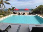 Private Beach Club 60 feet from house.