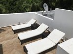 Roof Top Deck #2 with Chaise Lounges to Relax.