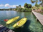 Kayaks mis à disposition par les propriétaires