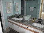 Master Bath dual vanities and granite countertop