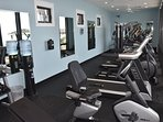 Modern, well-equipped fitness center
