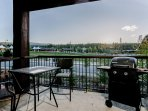 Private balcony with gas grill and venue views
