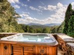 Hot Tub with a view at The Lodge