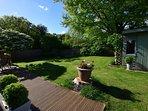 Large enclosed garden area