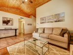 High ceilings and the open concept living area make the property feel inviting!