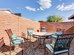 Enjoy dining al fresco from the 4-person patio table.