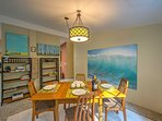Share a meal in the formal dining space