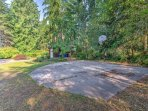 Try a game of pickup on the community basketball court