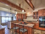 The spacious fully equipped kitchen is built for entertaining.