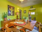 Bright colors invite you into every room.