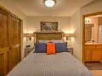 Two guests will fall fast asleep in the queen-sized bed.
