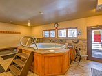 Soak in the community hot tub after a day on the slopes.