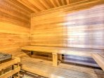 The sauna is the ideal place to unwind each evening!