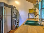 In-unit laundry machines add extra convenience to your stay.