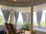 Stunning view and Ocean breeze! excellent corner for relaxing, daydreaming, reading, birdwatching.