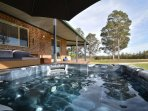 Private Outdoor Jacuzzi with views over the property